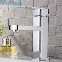 Wholesale Single Hole Bathroom Faucet Basin Faucets Hot and Cold Water Mixer Tap Hoses YT