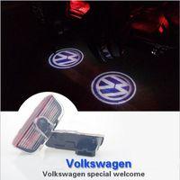 acura door - Car Ghost Shadow Door Weclome Light With Volkswagen Logo Projector For VW Passat B6 B7 Tiguan Jetta MK5 MK6 CC EOS Golf
