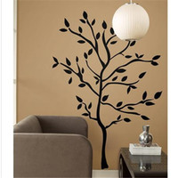 Wholesale LH575 cm VINE FLOWER tree Removable Carved Waterproof wall sticker wall art stickers decals stencils