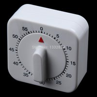 Wholesale Novelty White Square Minute Mechanical Timer Reminder Counting for Kitchen