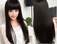 Wholesale Europe and the United States fashion wigs Qi Liu long straight hair
