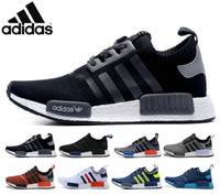 adidas originals - Original adidas NMD Runner Running shoes For Women Men Ultra Grey Eur Sport Runners Sneakers Trainers Brand Casual Cheap