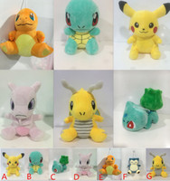 Wholesale New Poke Plush toys Pikachu Plush Toys styles cm Poke Plush dolls poke Stuffed animals toys Poke Figure Dolls Christmas toys D663