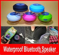 Wholesale Portable Colorful LED Waterproof Wireless Bluetooth Speaker Shower Car Handsfree Receive Call mini Suction Phone speakers