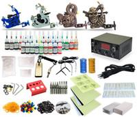 Wholesale Good Quality Best Price USA Complete Tattoo Kit Tattoo machine Set Gun Color Inks Power Supply TK