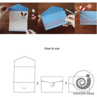 Wholesale 4 vintage floral folding greeting card thank you card birthday christmas card envelope writing paper stationery
