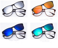 big clip frames - Big SizeTR90 Optical Myopia Glassces Frame with magnetic Clip Polarized Sunglasses FreeShipping