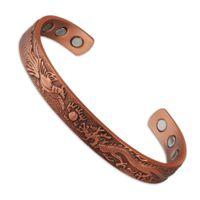 Bangle arthritis bracelets - 6 anti arthritis rheumatism Chinese dragon embossed pure magnetic copper bracelet