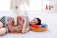 Wholesale 10PCS Christmas Gift doughnut Hamburger Cushion Emoji pillows lovely Cute plush toys doughnut Cushion for girl