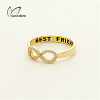 bff rings - Best Friend Statement Ring Silver Plated Graduate Jewelry Geometric Infinity Crystal Rings BFF Sisters Gift JZ023