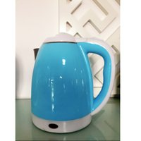 Wholesale electric kettle L stainless steel interior double housing blue
