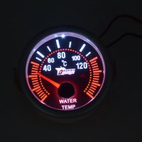 Wholesale 52mm White backlight car motorcycle Water temp gauge Auto gauge auto parts C Water Temperature meter