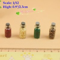 Wholesale 1 scale dollhouse miniatures glass of spice fake food toys kitchenware