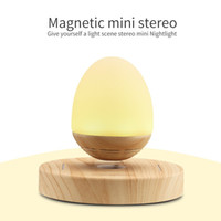 Wholesale Mini portable wireless Magnetic floating bluetooth speaker with LED Light super bass leivtating speaker