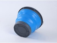 automotive silicone - Automotive silicone folding portable car washing bucket bucket Car telescopic barrel outdoor fishing water storage barrel