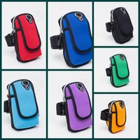 Wholesale 300PCS Waterproof Mobile Phone Arm Bag Outdoor Sports Running Wrist Wallet Case Arm Fitness Quake Proof Package LJJL112