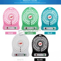 Wholesale Colorful USB Portable Fan Mini Cool Fan Handheld Emergency Fan With Third Gear Rechargeable Battery LED Indicator Outdoor