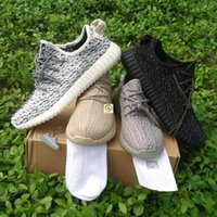 Wholesale With Original Box Quality Men Women Kanye West Yeezy Boost Yeezys Sneakers Shoes Pirate Black Moonrock Oxford Tan Turtle Dove