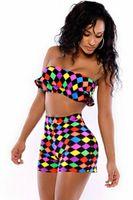 Wholesale Sexy Charming Geometric Print High Waist Pant Set LC4257