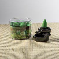 al por mayor té floral chino-Chino Auténtico Incienso Natural Puro Fragancia Backflow de la serie Incienso de Humo Té Verde Concepto de partícula FLORAL de una caja de 40 tabletas