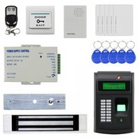Wholesale Access Control System Remote Control KHz RFID LCD Biometric Fingerprint Keypad ID Card Reader Kit Magnetic Lock I S