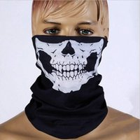 Wholesale Women Men Balaclava Beanies Motorcycle Skull Ghost Face Windproof Mask Outdoor Sports Warm Ski Caps Bicyle Bike Scarf Dust Scarf DHL Free