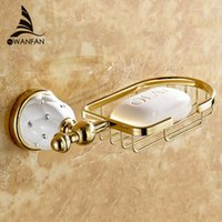 bathroom vanity baskets - New Golden finish brass Soap basket soap dish soap holder bathroom accessories bathroom furniture toilet vanity
