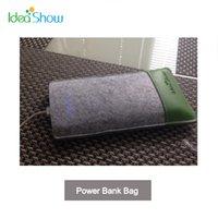banks show bag - High Quality Idea Show Power Bank Bag Smart Phone Bag Tablet PC Felt Protective Storage Bag