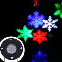 Wholesale Christmas Snowflakes LED Stage Lights Holiday White Snow Sparkling Landscape Projector Lawn Garden Wall Decoration Lamp Outdoor