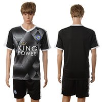 Wholesale 2016 Leicester City Black Soccer Jerseys Brand Soccer Sets Cheap Soccer Sportswears Hot Sale All Teams Outdoor Wears