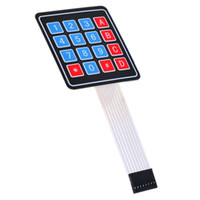 avr panel - 2pcs X4 Matrix Keyboard For Arduino Array Module Key Membrane Switch Expansion Keypad Panel Control Microprocessor AVR