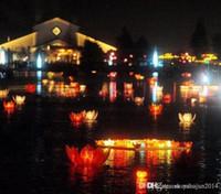 lampada fiore di loto artificiale LED acqua 19 centimetri diametro ...