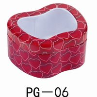 apple windows office - 12 cm Apple Shaped tin box candy storage box jewelry box with window