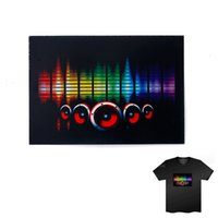 activate silvers - Equalizer T Shirt Sound Activated LED Flashing Shirt Light Up Down Music Festival Party Equalizer LED T Shirt Short Black Tshirt