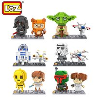 assembly movie - LOZ Star Wars Action Figures Set Master Yoda Darth Vader Black Series Movie Hobbies Assembly Model Toys gt Years Old