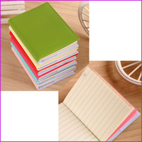 Wholesale 8cm x cm quot x quot Mini Pocket Notedpad Candy Color Steno Notebooks Memo Journal Notes Sheets