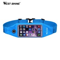 Wholesale 4 Running Sport Waist Bag Screen Touch Waterproof Belt Pouch Phone Holder Jogging Adjustable Cycling Runnning Bags