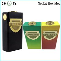 18650 battery contact material - Nookie Box Mod Thread Mechanical Mod with Dual Battery Copper Contact SS Brass Material fit Hellboy Mutation VS cherry bomber