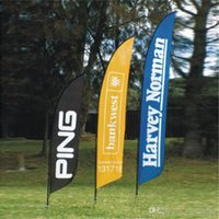 Wholesale 70x280cm Beach Feather Flags Banners Outdoor Advertising Flags Single Side Flying Banners with Screw or Spike Feet POS