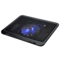 Wholesale USB Notebook Cooler Laptop Cooling Pad cm LED light Fan quot quot PC Computer Cooler Heat Reduction New Black White Yellow Blue Red