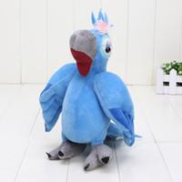 al por mayor loro peluches-Río felpa linda Blu Jewel rafael relleno del juguete Animaml Blu pájaro del loro de muñeca suave al por menor 8.5inch 10 ''