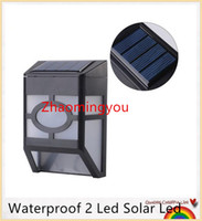Wholesale Waterproof Led Solar Led Wall Lam Solar Powered Panel Street Light Garden Pathway Wall Spotlight White Warm White