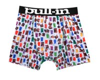 name brand clothing - Brand name new hot mens sexy soft lycra silk summer cool printed pull in boxers pullin marca pants trunks underwear erotic clothing for man