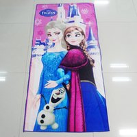 Wholesale new Frozen D Cartoon towel Frozen kids towel bedding Printed Soft Blanket Lovely dream towel By DHL ship