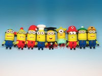 Wholesale Rong Xu small yellow U disc despicable me Christmas gift gift USB G shipping girl students