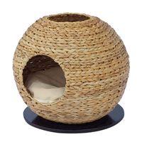 banana leaf furniture - cozy natural banana leaf cat cave pet product cat tree cat furniture