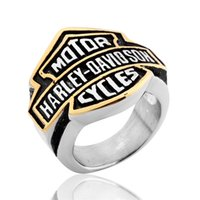motor cycle - 2016 Fashion Brand Finger Ring Size Retro Stainless Steel Motor Cycles Biker Rings for Mens Punk Jewelry BRS025