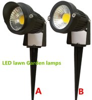 Wholesale V V W COB LED Lawn Lamps Light IP65 Waterproof Landscape Outdoor Lights Garden Path Pond Light
