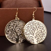 Wholesale 2016 foreign fashion trend hollow tree lady charm element Earrings matte factory direct