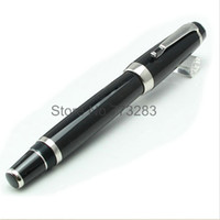 Wholesale Luxury MB black bohemee fountain pen with crystal on clip office supplies metal writing brand pen AAA quality